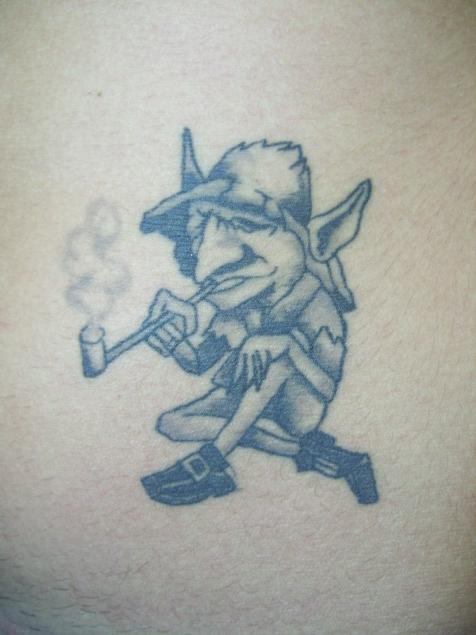 Duende Fumador De Pipa Molina Tattoo